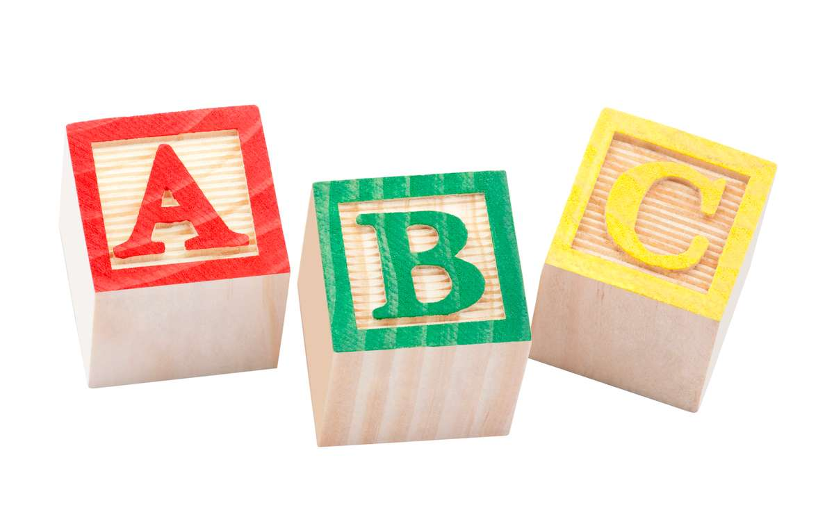Wooden alphabet blocks with clipping path (R) (S)